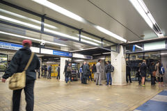 Sydney underground metro station in australia Royalty Free Stock Image