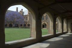 Sydney University Quadrangle. Gothic revival architecture at sydney university, australia Stock Photos