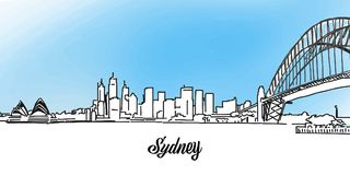 Sydney Vector Panorama Banner Photos stock