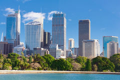 Sydney view at the noon. Skyline of Sydney with city central business district at the noon stock photos