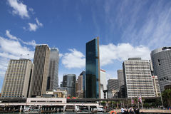 Sydney - view from the water. View of the business district in Sydney, NSW Australia Stock Photo