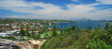 Sydney view from Watson Bay. Sydney. New South Wales. Australia. Sydney is the state capital of New South Wales and the most populous city in Australia and Royalty Free Stock Image