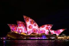 Sydney viva: Un festival de la luz, música Imágenes de archivo libres de regalías