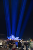 Sydney Vivid light festival 2014 Opera house Royalty Free Stock Image