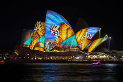Sydney Vivid light festival 2014 Opera house Royalty Free Stock Photos