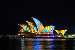 Sydney Vivid show Royalty Free Stock Images