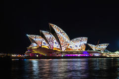 Sydney Vivid show Royalty Free Stock Photography