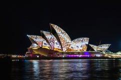 Sydney Vivid show Royalty Free Stock Photography