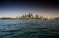 Sydney Waterfront CBD från Sydney Harbour fotografering för bildbyråer