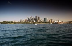 Sydney Waterfront CBD from Sydney Harbour Stock Image