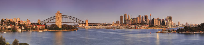 Sydney Waverton Pink Panorama Royalty Free Stock Photos