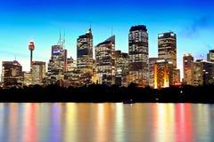 Sydney y puesta del sol Fotos de archivo