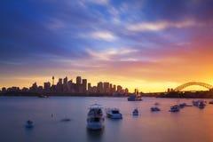 Sydney, zachód słońca zdjęcie stock