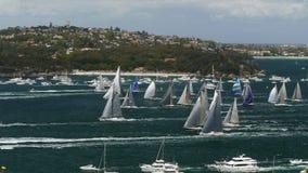 Sydney zu Hobart-Flotte stock video footage