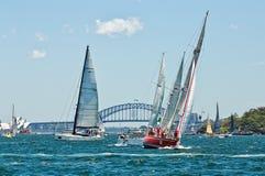Sydney zu Hobart-Yachtrennen 2014 Stockfoto