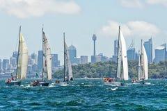Sydney zu Hobart-Yachtrennen 2014 Stockfotografie