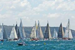 Sydney zu Hobart-Yachtrennen 2014 Lizenzfreies Stockfoto