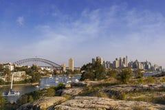 Sydneys Hafen-Ausblick Lizenzfreies Stockbild