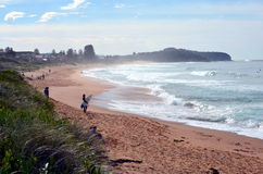 Sydneysiders surfing on the coldest day this year. Royalty Free Stock Photography