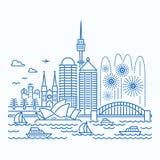 Sydneyskyline waterfront view Stock Photo