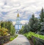 Sydostligt torn av den Raif kloster Kazan Tatarstan, Ryssland royaltyfri fotografi