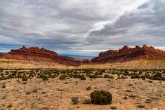 Sydväster Canyonlands av den Utah öknen royaltyfri foto