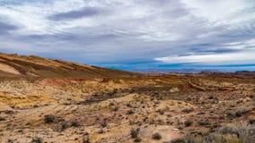 Sydväster Desertscape av den Utah öknen arkivfoto