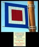 sygnałowa flaga przy homerem Alaska Fotografia Stock
