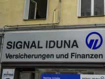 Sygnałowy Iduna firmy signage obraz stock