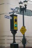 sygnałowy idzie ruch drogowy rocznik Fotografia Stock