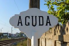 Sygnał w Aguda Zdjęcia Stock