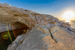 Sykia Cave at Melos Island, Greece Stock Images