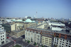Sykline van Berlijn Stock Foto's
