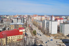 Syktyvkar. Top-view of a beautiful town in Russian Federation - Syktyvkar Royalty Free Stock Photos