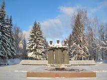 Syktyvkar. Ein Monument zu den Opfern stockfotos