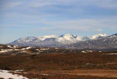 Sylarna mountains. Mountain massif Sylarna on the Norwegian/Swedish border stock photos