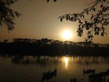 Sylhet Surma flod från Kanishailen Kheoyaghat Royaltyfri Fotografi