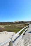 Sylt beach wooden bridge Stock Photography