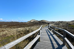 Sylt beach wooden bridge Stock Images
