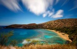 Sylt för Hanauma fjärdnatur i Oahu Hawaii Arkivfoto