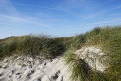 Sylt (Germany) - Sand dune at Puan Klent Stock Image
