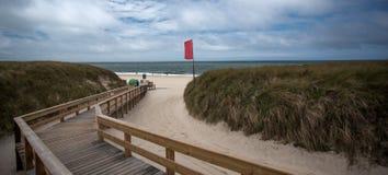 Sylt Island, beach, North Sea Stock Images