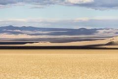 Syltsodavatten för Mojave nationella skuggor för torr sjö royaltyfri foto