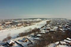 Sylvafluß Kungur-Stadt Permskiy Kray Russland lizenzfreie stockfotos