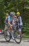 Велосипедист Sylvain Chavanel- Col du Granier 2012 Стоковые Фото