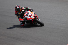 Sylvain Guintoli #50 on Aprilia RSV4 1000 Factory with Aprilia Racing Team Superbike WSBK Royalty Free Stock Image