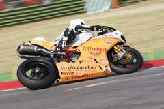 Sylvain Guintoli - de Vrijheid Effenbert van Ducati 1098R Stock Fotografie