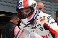 Sylvain Guintoli - Ducati1098R - Effenbert Freiheit Lizenzfreies Stockfoto