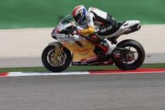 Sylvain Guintoli - Ducati1098R - Effenbert Freiheit Lizenzfreie Stockfotografie
