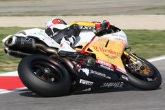 Sylvain Guintoli - Ducati1098R - Vrijheid Effenbert Stock Fotografie